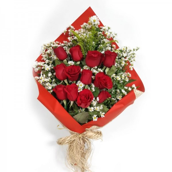 buquê 12 rosas