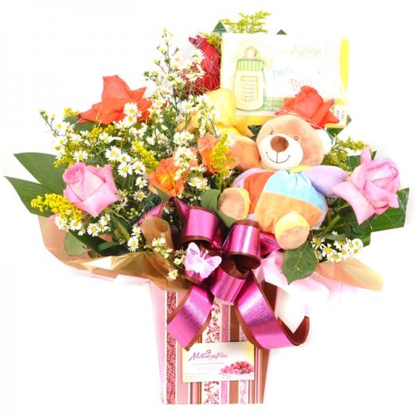 Arranjo Floral Parabéns Pelo Bebê