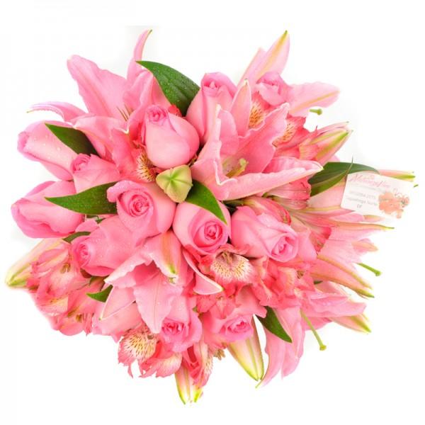 Buquê de Noiva lírio pink